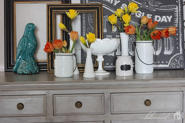 How to Decorate With Junk {5 Ways} | MyBlessedLife.net