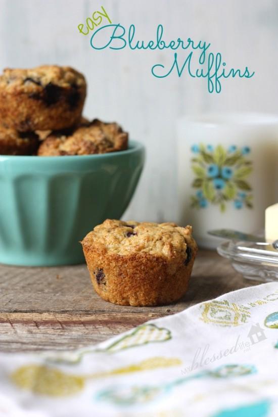 Easy Blueberry Muffin Recipe | MyBlessedLife.net