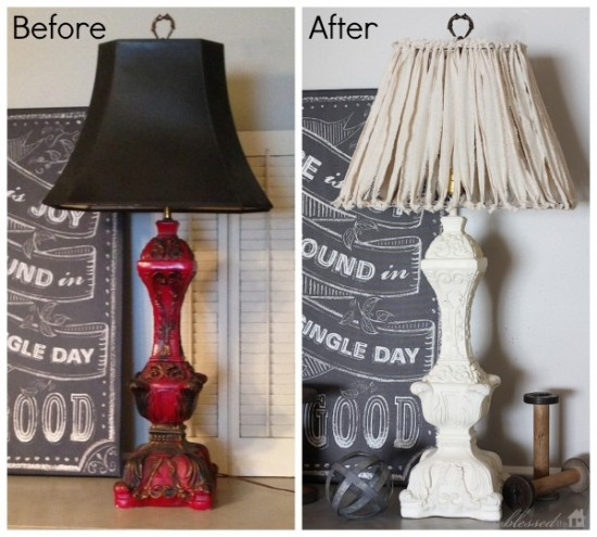 Lamp Makeover Before & After