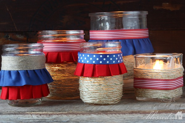 Easy Diy Patriotic Luminaries Patriotic Craft Myblessedlife Net