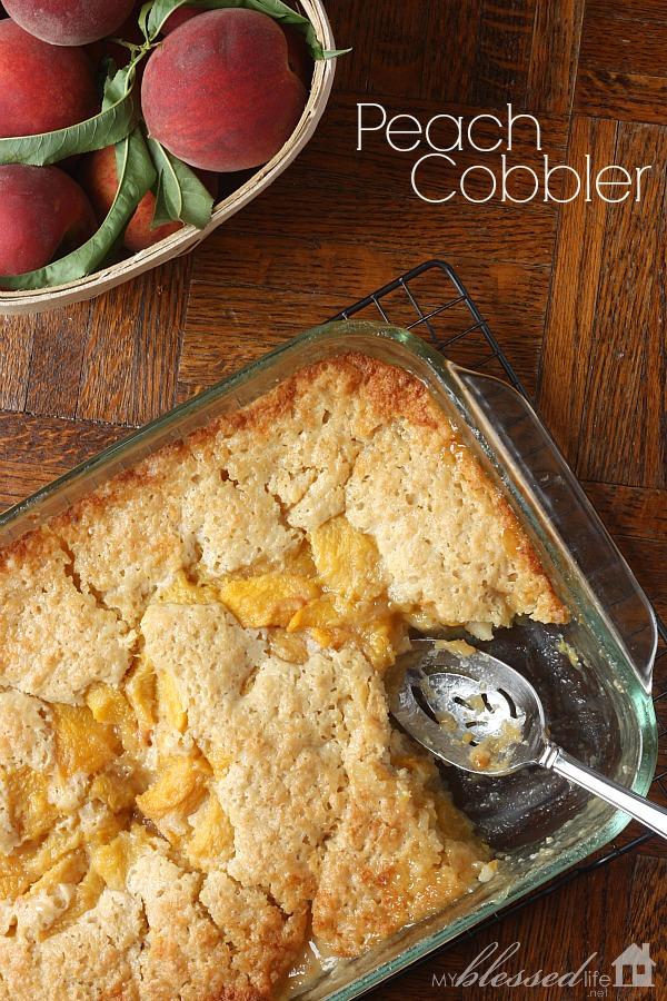 Peach Cobbler | MyBlessedLife.net