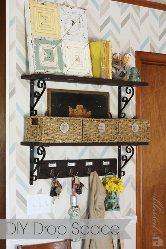 DIY Drop Space {Amazing Before and After} | MyBlessedLife.net