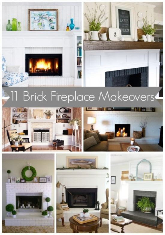 11 Brick Fireplace Makeovers My Blessed Life