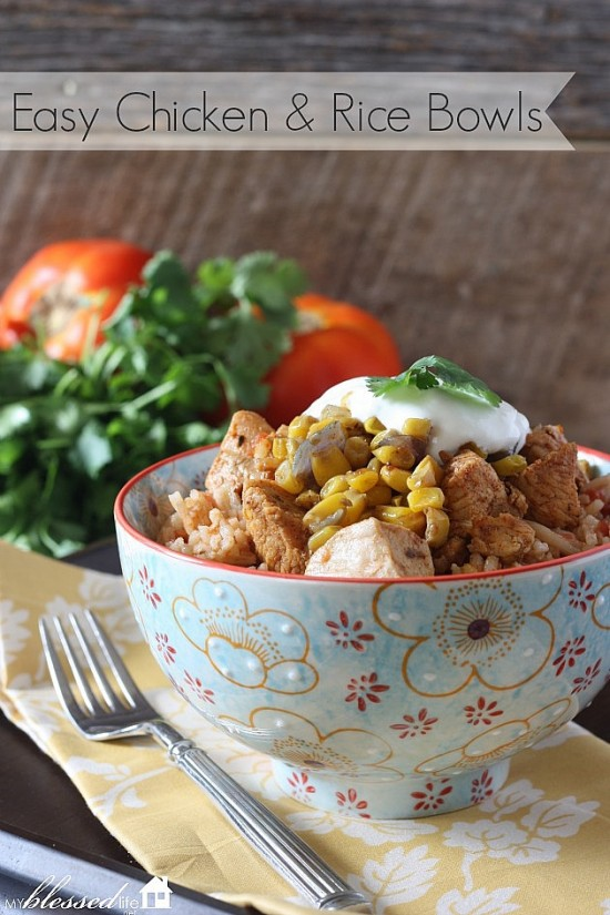 Chicken And Rice Bowls