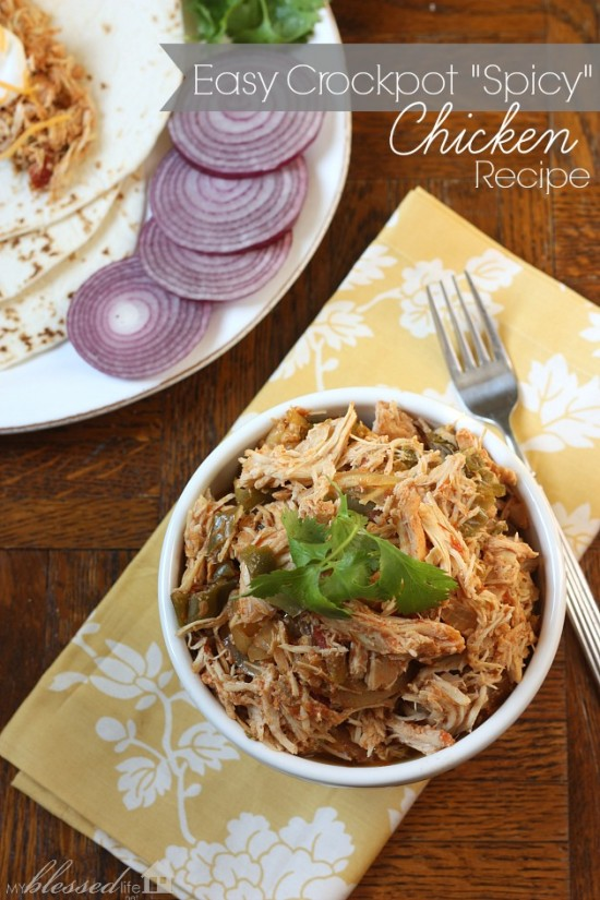 "Easy Crockpot ""Spicy"" Chicken Recipe 