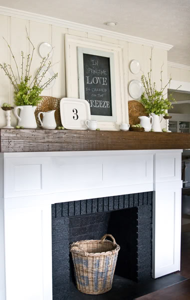 11 brick fireplace makeovers - How to make a brick fireplace look modern ...