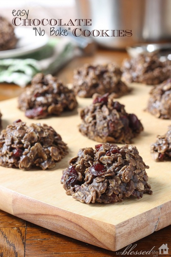Easy Chocolate No Bake Cookies | MyBlessedLife.net