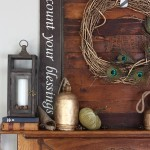Gorgeous Fall Mantel | MyBlessedLife.net