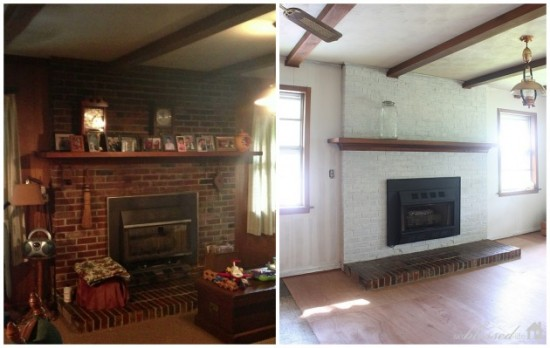 Before & After Fireplace Makeover