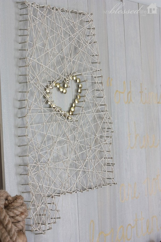 Heart of Dixie String Art | MyBlessedLife.net