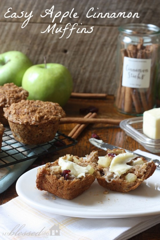 Easy Apple Cinnamon Muffins | MyBlessedLife.net