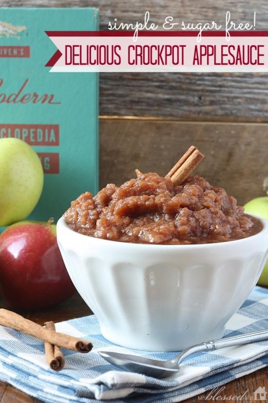 Delicious Crockpot Applesauce - Sugar Free   MyBlessedLife.net
