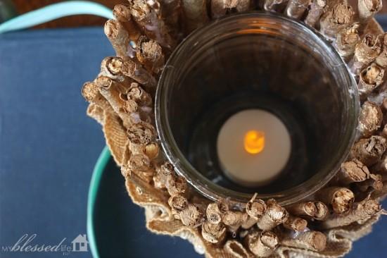 Easy DIY Gold Twig Candle Holder   MyBlessedLife.net