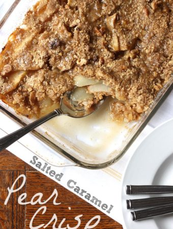 Salted Caramel Pear Crisp | MyBlessedLife.net