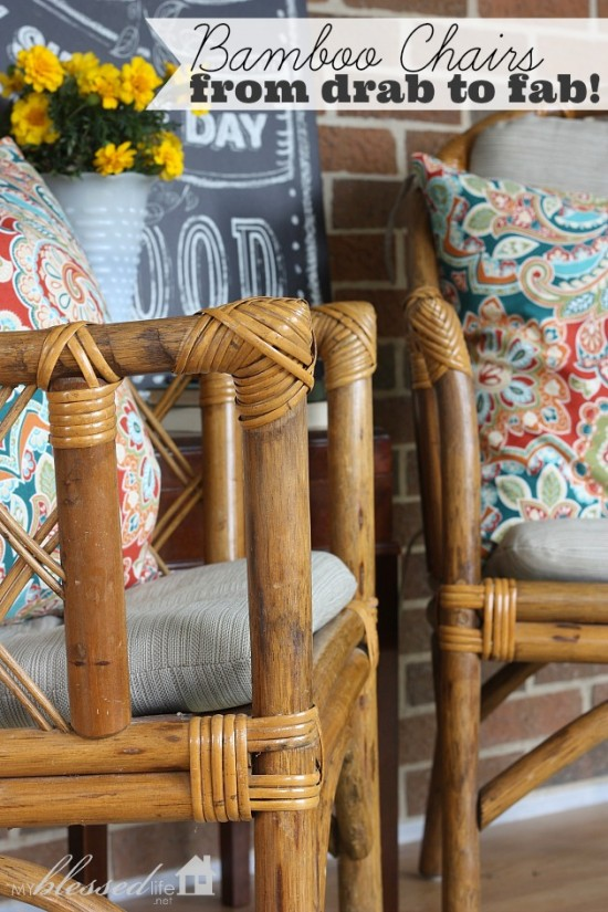 Bamboo Chairs From Drab To Fab! | MyBlessedLife.net