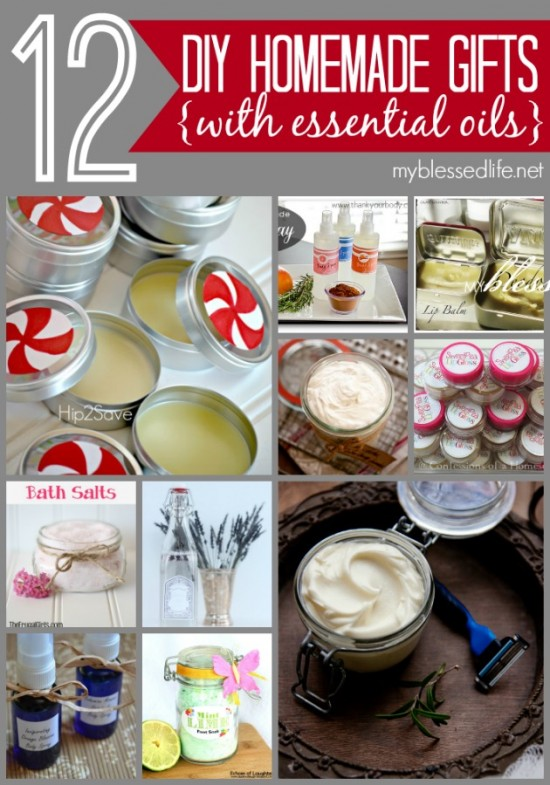 12 Homemade Gifts with Essential Oils