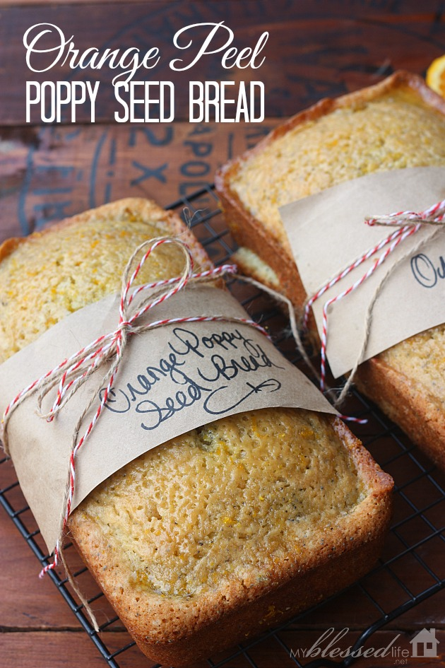 Orange Poppy Seed Bread | MyBlessedLife.net