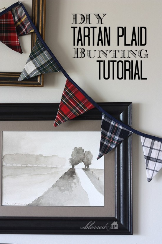 DIY Tartan Plaid Bunting Tutorial | MyBlessedLife.net