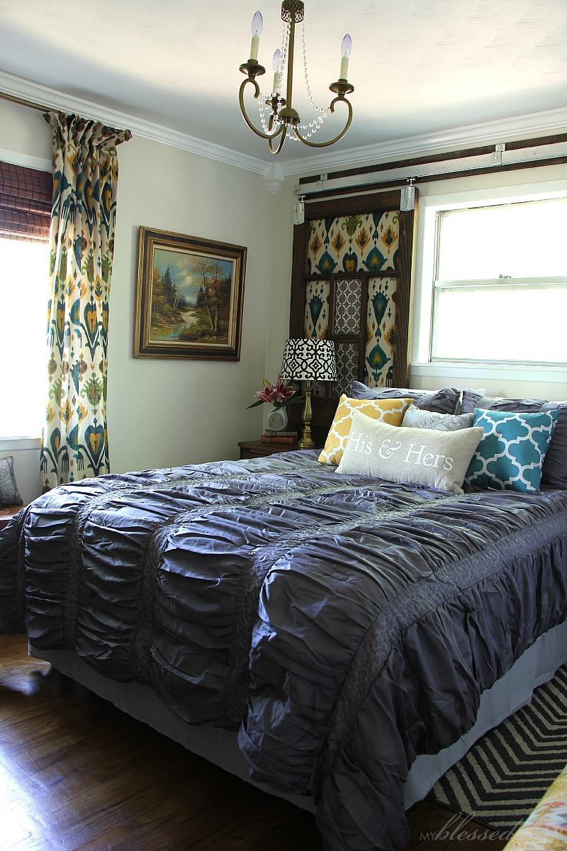 The Luxe Lifestyle Master Bedroom Reveal: Industrial Glam Master Bedroom Makeover Reveal