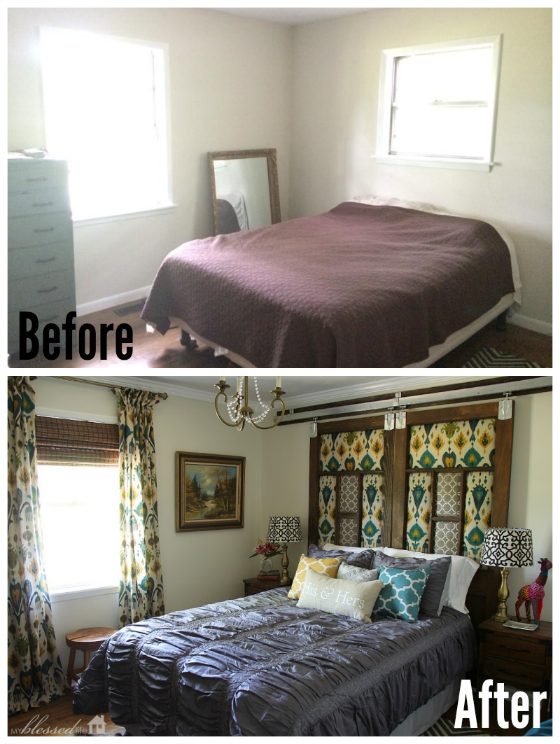 Master Bedroom Makeover After: Industrial Glam Master Bedroom Makeover Reveal