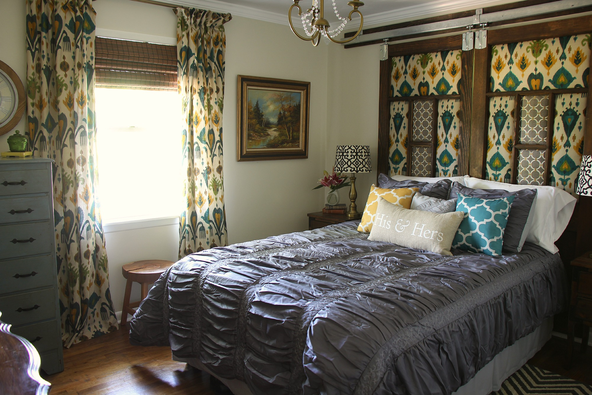 Industrial Glam Master Bedroom Makeover Reveal