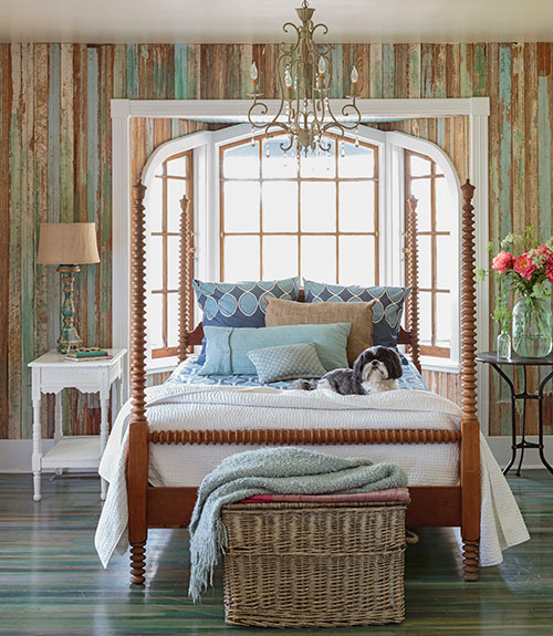 10 fabulous solutions for a pesky window over your bed for Bungalow bedroom ideas