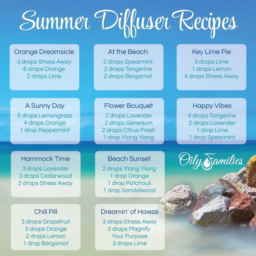 Summer Diffusing Recipes