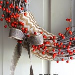 DIY Weathered Glam Berry Wreath