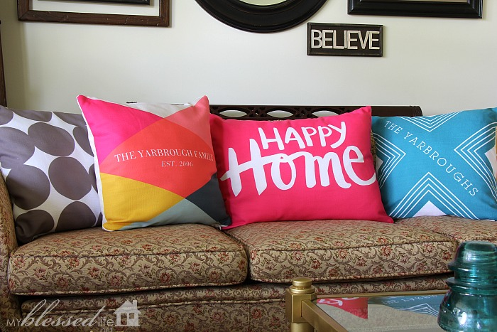 Accessorize Your Living Room With Color | MyBlessedLife.net