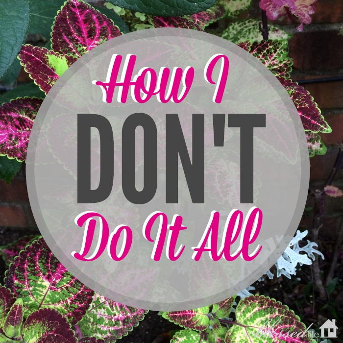 How I DON'T Do It All | MyBlessedLife.net
