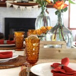 Simple Layered Fall Tablescape