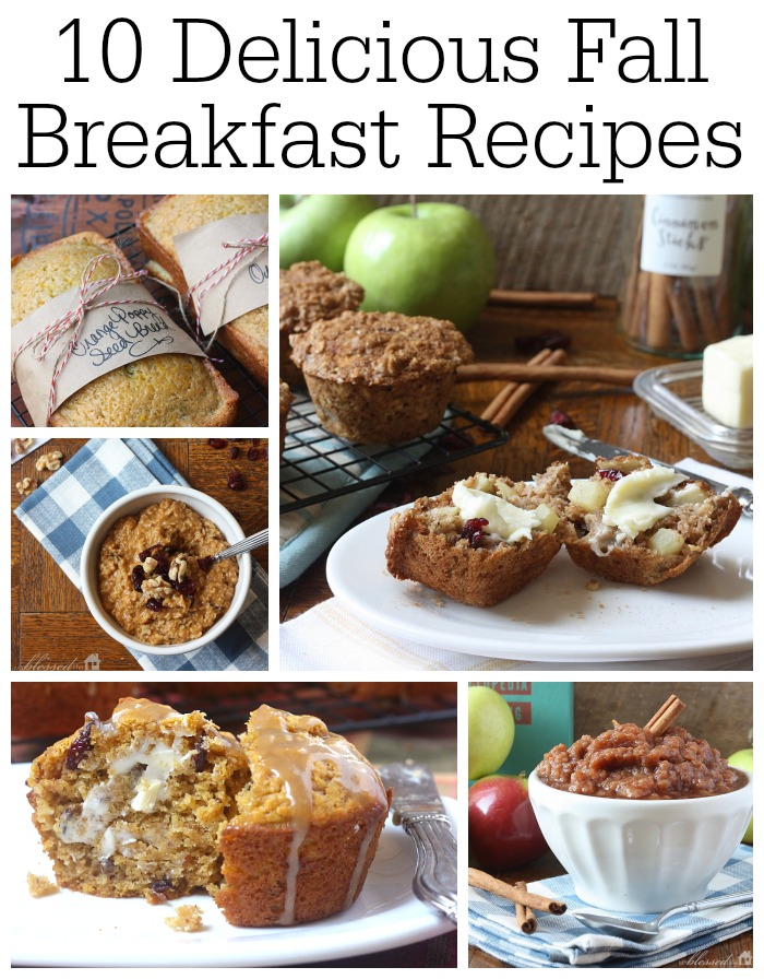 10 Delicious Fall Breakfast Recipes | MyBlessedLife.net