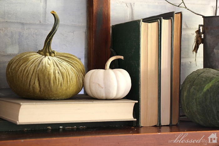 Natural Fall Mantel | MyBlessedLife.net