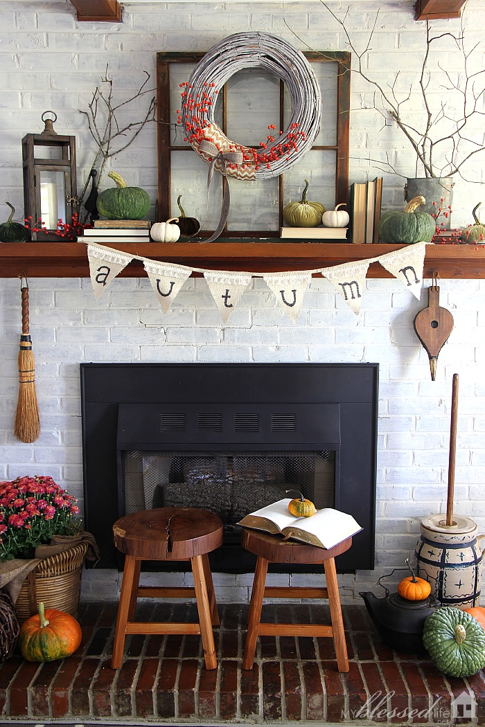 Natural Fall Mantel My Blessed Life