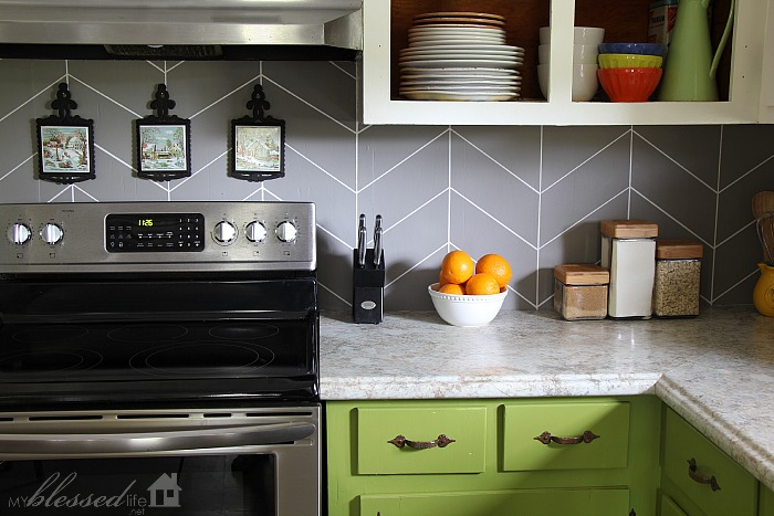painting kitchen backsplash ideas diy herringbone tile backsplash 4020