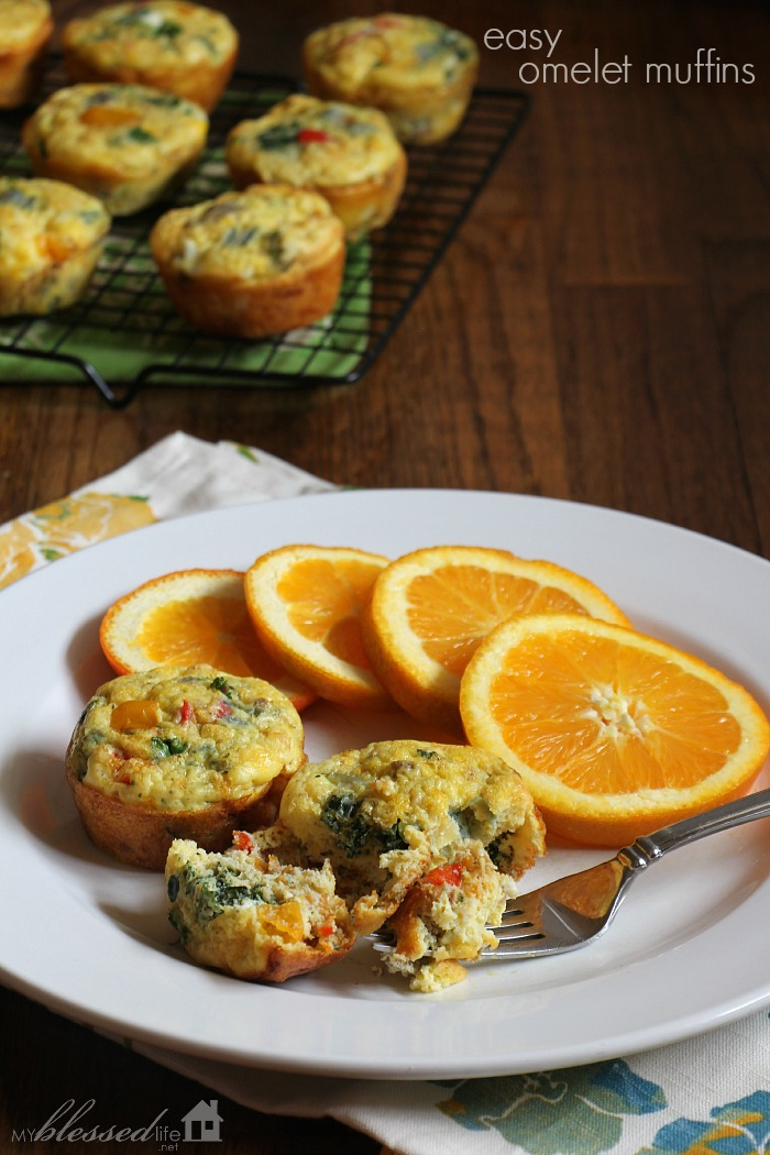 Healthy Breakfast Ideas | Easy Omelet Muffins | MyBlessedLife.net