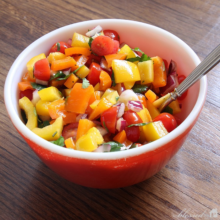 Veggie Chop Salad | MyBlessedLife.net