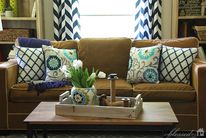Navy & Lime Den Makeover | MyBlessedLife.net