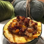Sausage And Quinoa Stuffed Acorn Squash