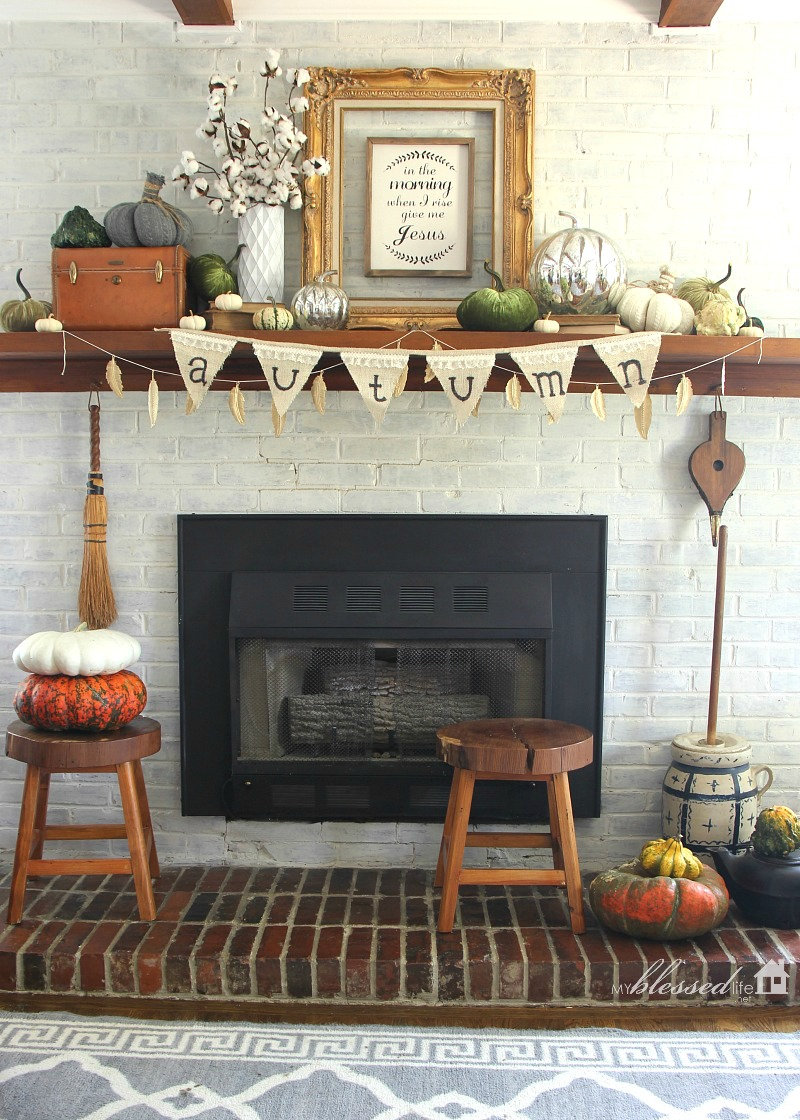 Holla!!! It's Our 2016 Fall Mantel!